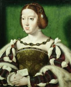 Rainha Eleonor da França, segunda consorte de Francisco I.