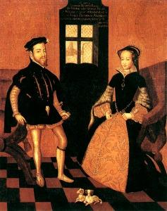 Maria I e Felipe da Espanha.