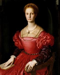 Lucrezia Panciatichi, por Agnolo Bronzino. Erroneamente identificada como Elizabeth Bathory.
