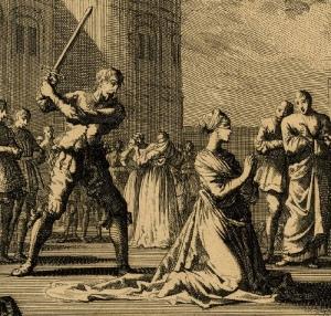 A Execução de Ana Bolena, por Jan Luyken (cerca de 1664 - 1712)
