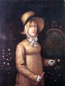 Retrato da Princesa Real, Maria Leopoldina em 1817 na Ilha da madeira, onde fez uma parada durante sua viagem para o Brasil.