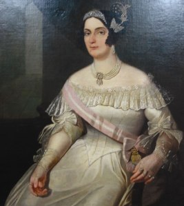 Domitila de Castro Canto e Melo, Marquesa de Santos,por artista desconhecido.