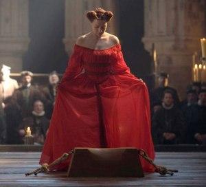Cena da Execução de Mary Stuart (Samantha Morton).