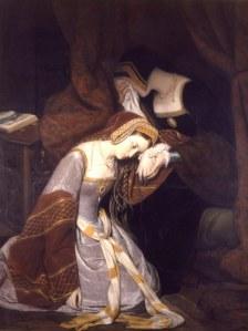 Ana Bolena na torre, por Edward Cibot.