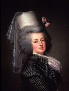 Maria Antonieta, por Adolf Ulrich Wertmüller.