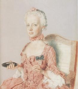 Maria Antonieta em 1762, por Jean-Etienee Liotard (1762)