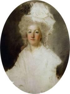 Último retrato para o qual Maria Antonieta, executado por Alexandre Kucharski (1791).
