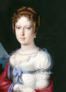 Arquiduquesa Carolina Leopoldina (retrato na Biblioteca Nacional da Áustria).