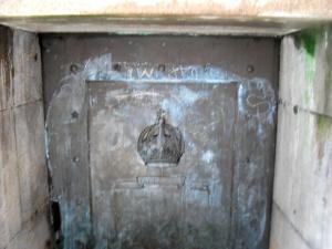 Portão Inferior da capela Imperial vandalizado.
