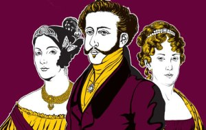 O Triângulo amoro: Domitila de Castro, D. Pedro I e D. Leopoldina.