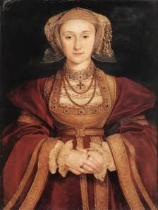 Retrato de Ana De Cléves executado por Hans Holbein. Segundo fontes, Henrique considerou a pintura por demais lisonjeira.