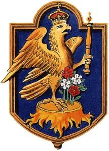 O Falcão coroado, símbolo de Ana Bolena.