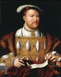 Enrique VIII, em 1535, por Joos Van Cleve.