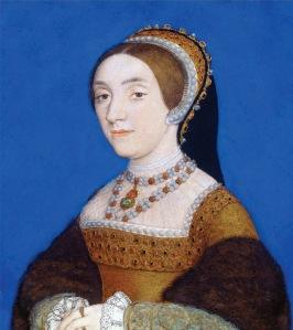 Provável retrato de Catarina Howard, prima de Ana Bolena também decapitada por adultério em princípios de 1542 (pintado por Hans Holbein).