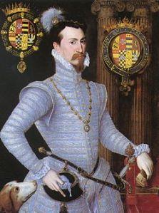 Robert Dudley, conde de Leicester e possível amante de Elizabeth.
