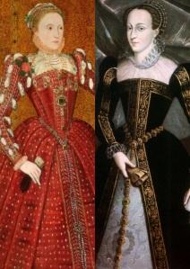 "O corpo político e o ""eu"" individual: Elizabeth e Mary (respectivamente)."