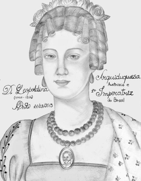 Imperatriz Leopoldina, por Renato Drummond.