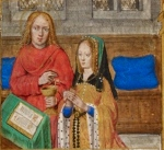 Juana I de Castela, rezando (livro de Horas de Juana).