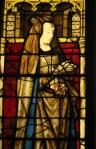 Juana I de Castela (retrato em vidro na janela da Capela de Holy Blood)