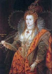 O Corpo Político: quadro pintado em 1601 da rainha Elizabeth I, retratando-a jovem e imponente,quando na verdade na época estava velha e cansada do fardo da coroa.