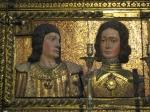 Escultura em alto relevo de Juana e Felipe, por Alonso de Mena.