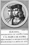 """Juana I de Castela e Felipe """"o Belo"""" (gravura de Manuel Rodríguez)."""
