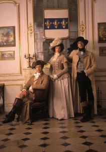 Da esquerda para a direita: Simon Baker como Rétaux de Villette, Hilary Swank como Jeanne, e Adrien Brody, como Nicolas de La Motte.