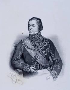 Felisberto Caldeira Brant, marquês de Barbacena, em litografia de Sébastien Auguste Sisson.