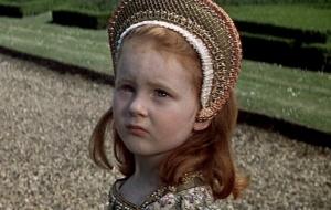 A pequena Elizabeth (Amanda Jane Smythe).