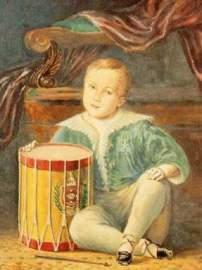D. Pedro II enquanto criança, por Armand Julien Pallière (c. 1830).