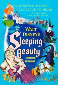 Pôster do Filme Sleeping Beauty (A bela Adormecida), de 1959.