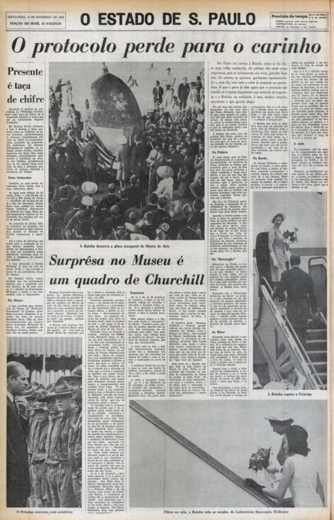 Jornal O Estado de São Paulo de 08/11/1968.