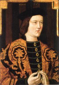 Rei Eduardo IV, pai de Isabel de York (artista desconhecido).