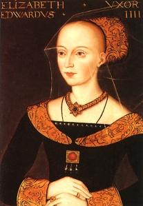 Elizabeth Woodville, mãe de Isabel de York (artista desconhecido).
