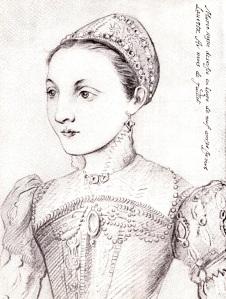 Desenho de Mary Stuart aos 9 anos de idade.