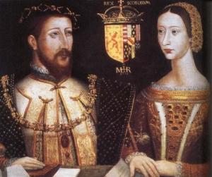 Jaime V da Escócia e Marie de Guise, pais de Mary Stuart.