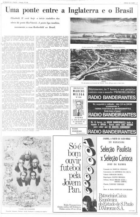Jornal o Estado de São Paulo de 09/ 11/ 1968.