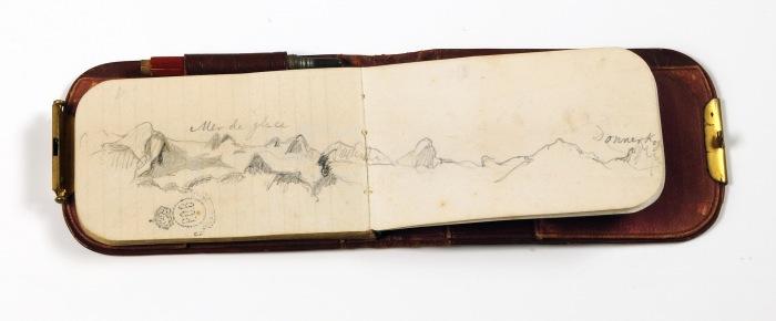 Caderno de Desenhos das viagens de D. Pedro II (Foto: Divulgação).