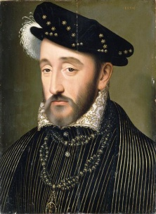 Henrique II, rei da França, por François Clouet.