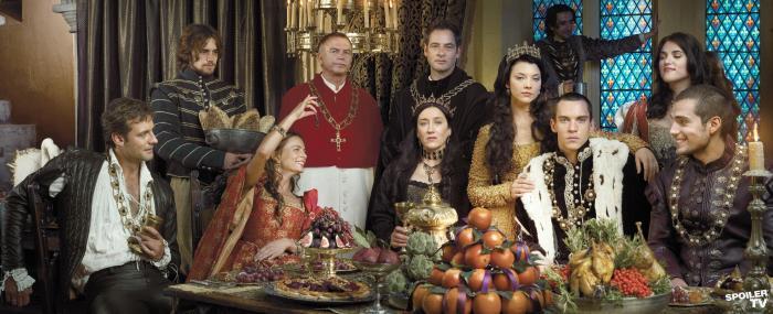 """Elenco da primeira temporada da série """"The Tudors""""."""