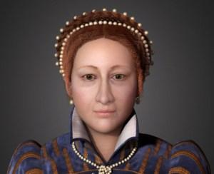 Reconstrução facial em 3D de Mary Stuart.