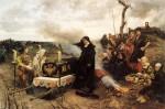 Doña Juana la Loca, em procissão à Granada com o corpo de Felipe (por Francisco Pradilla Ortiz).