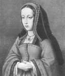 Juana I de Castela, com base no retrato pintado por Master of the Life of St. Joseph.