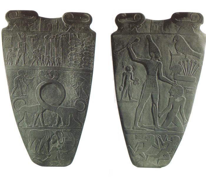 A paleta de Namer: representação mitológica da Unificação do Egito.