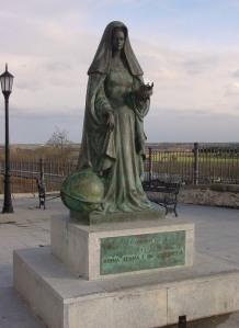 Estátua da Rainha Juana I de Castela, em Tordesilhas.