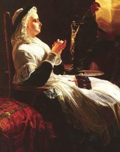 Maria Antonieta na Conciergerie, por Edward Matthew Ward.