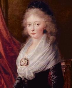 A filha de Maria Antonieta e Luís XVI, Maria Tereza - única sobrevivente do Templo (por: Heinrich Friedrich Füger, depois de 1795).
