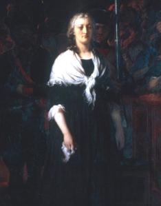 Maria Antonieta se dirige ao Tribunal Revolucionário, por Paul Delaroche.