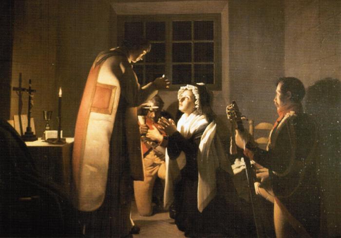 Maria Antonieta recebe a sua última comunhão, por Michel-Martin Drolling.