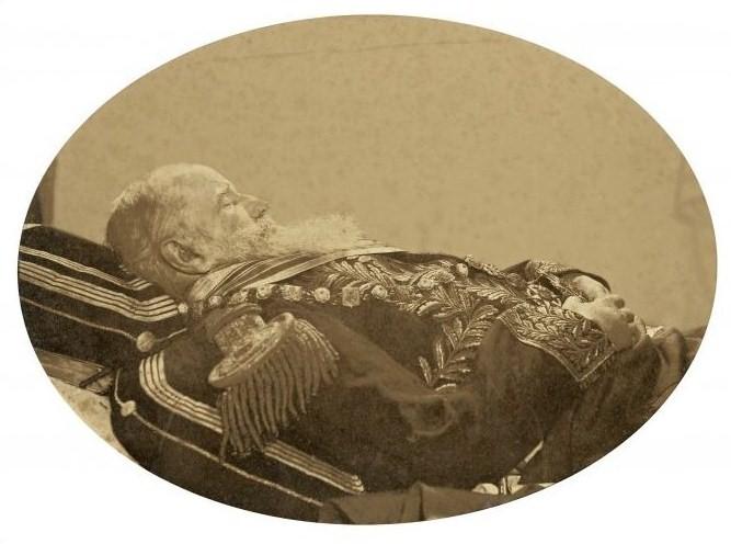 D. Pedro II em seu leito de morte